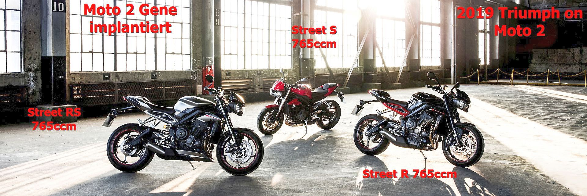 The New Street Triple 765 Family